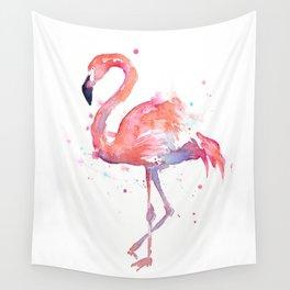 Flamingo Watercolor Wall Tapestry