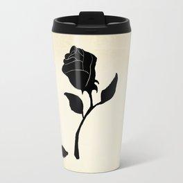 Silhouetted Rose Travel Mug