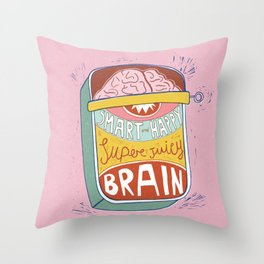 Canned Brain Throw Pillow