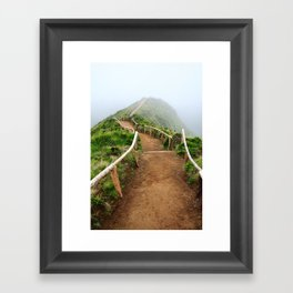 Empty walking trail Framed Art Print