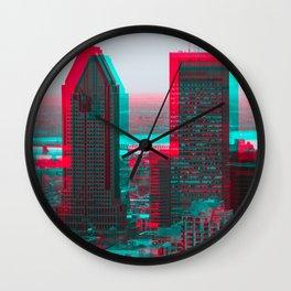Surreal Montreal #7 Wall Clock