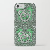 slytherin iPhone & iPod Cases featuring Slytherin by Cryptovolans