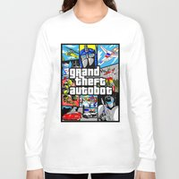 grand theft auto Long Sleeve T-shirts featuring Grand Theft Autobot (GTA G1 Transformers) by Demonlinks
