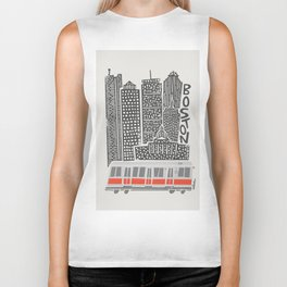 Boston City Illustration Biker Tank