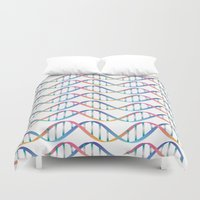 dna Duvet Covers featuring DNA by FACTORIE