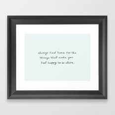 find time Framed Art Print