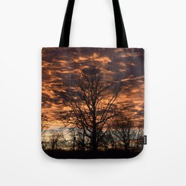 Sky on Fire in Tennessee Tote Bag
