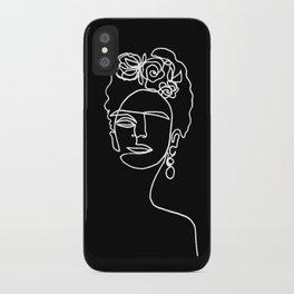 Frida Kahlo BW iPhone Case