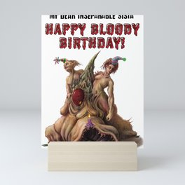 Happy Birthday sister - Horror Bday Mini Art Print