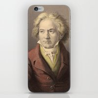 beethoven iPhone & iPod Skins featuring Beethoven by Palazzo Art Gallery