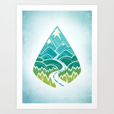 The Road Goes Ever On: Summer Art Print