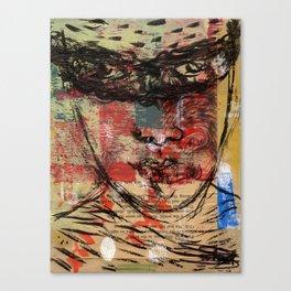 fighting the giant antaeus Canvas Print