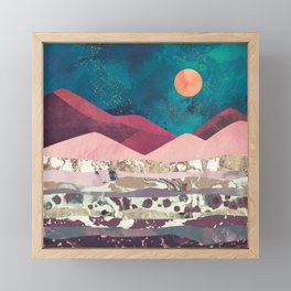Magenta Mountain Framed Mini Art Print