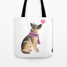 Watercolour German Shepherd Dog Tote Bag