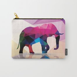 Geometric elephant Carry-All Pouch