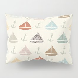 boats and anchors pattern Pillow Sham