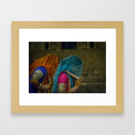 Veiled Ghoomar Dancers Framed Art Print