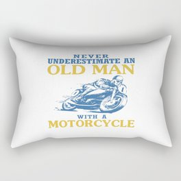 OLD MAN WITH A MOTORCYCLE Rectangular Pillow