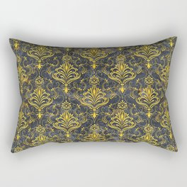 Golden pattern with marble Rectangular Pillow