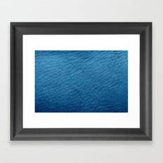 Leather Texture (Blue) Framed Art Print