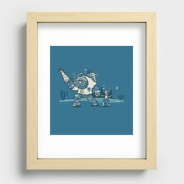 Number One Daddy Recessed Framed Print
