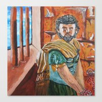 greek Canvas Prints featuring Greek by ArtEmpowered