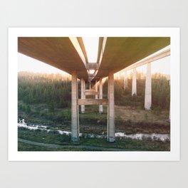 Under the Bridge. Art Print