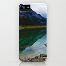 Reflections in Medicine Lake in Jasper National Park, Canada iPhone Case