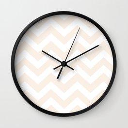 Linen - pink color -  Zigzag Chevron Pattern Wall Clock