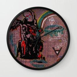 ART HISTORY SERIES: PIETA & ANNUNCIATION DIPTYCH Wall Clock