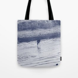 Combing the beach Tote Bag