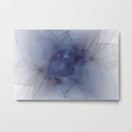 Folds In Blue Velvet Metal Print