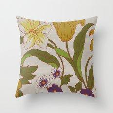 flower knit Throw Pillow