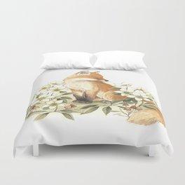 Springtime Fox Duvet Cover