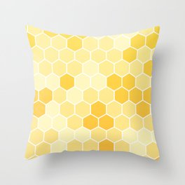 Honeycomb Yellow and Orange Geometric Pattern for Home Decor Throw Pillow
