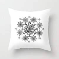 zen Throw Pillows featuring Zen by Marie Mirbekian(JM)