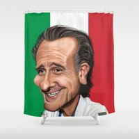world cup Shower Curtains featuring  Cesare Prandelli World Cup by Michael Paci