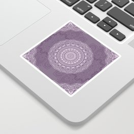 White Lace on Lavender Sticker