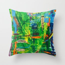 Floating Feathers - by Toni Wright Throw Pillow