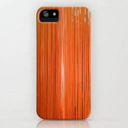 ORANGE STRINGS iPhone Case