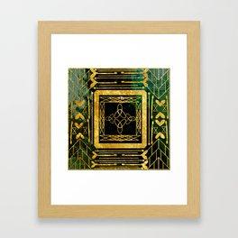 Folk Art Deco Framed Art Print