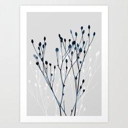 Watercolor Leaves 12 Art Print