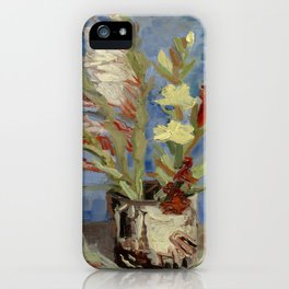 """Vincent Van Gogh """"Vase with Gladioli and Chinese Asters"""" iPhone Case"""
