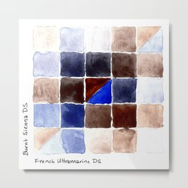 Color Chart - Burnt Sienna (DS) and French Ultramarine (DS) Metal Print