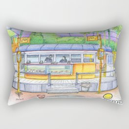banana cafe Rectangular Pillow