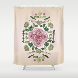 Flower Lace III Shower Curtain