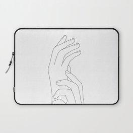 Minimal Line Art Feminine Hands Laptop Sleeve