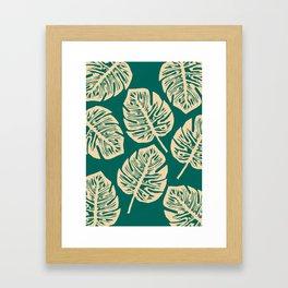 Midnight Philodendron Framed Art Print