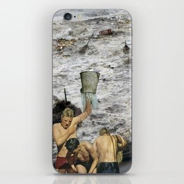 Kaiju Bath Tub - Vintage Collage iPhone Skin