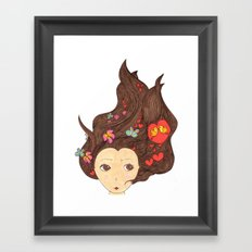 Birds in the head Framed Art Print